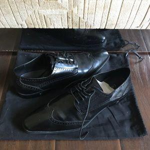 Versace Collection Vintage Wingtip Dress Shoe Mens